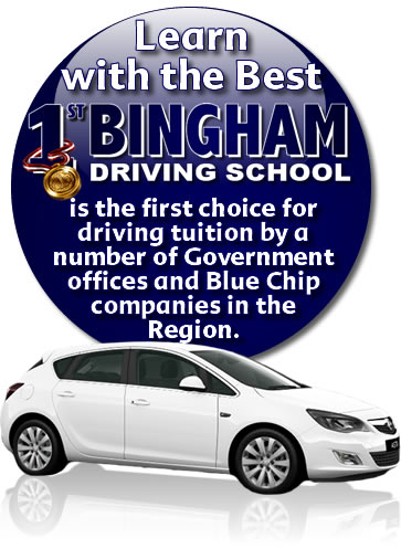 get driving lessons Bingham with 1st Bingham Driving School
